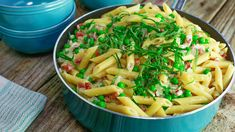 Penne with Pancetta, Peas, and Mascarpone. Perfect dish for Spring. I can see this being perfect with gnocchi too.