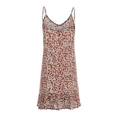 Fashion Sexy Vest Floral Vocation Shift Dresses - ClothingI Plus Size Summer Dresses, Sexy Summer Dresses, Casual Dresses, Summer Maxi, Casual Summer, Plain Dress, Floral Sundress, Ideias Fashion, Clothes For Women