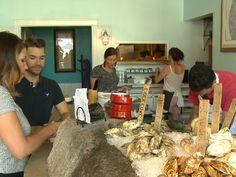 7/21/17 Amanda Hill and Rob Nesbitt prepare to defend their clam shucking crown. Portland, Maine