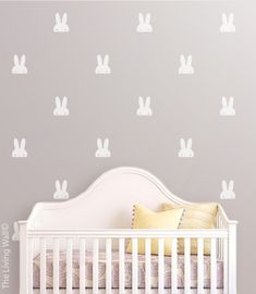 Measurements: 54 Bunnies Nusery Room 7,5cm x 9,5cm / 3 x 3.7  Color Options: *Important* Please specify your choice of or your own refering to our