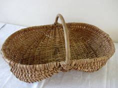 Vintage French Gathering Market Basket Hand Crafted on Etsy, 59,95 €