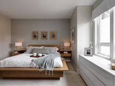 Cozy and contemporary bedroom at CityHomes.