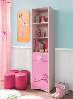 Biblioteca din pal, pentru copii Little Princess Pink / Nature, l38xA35xH173 cm #homedecor #interiordesign #inspiration #interiordesign #kidsroom #girlroom Kids Furniture, Furniture Design, Pink Nature, Little Princess, Kids Room, Bookcase, Shelves, Interior Design, Home Decor