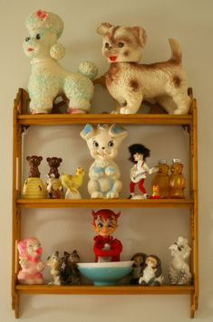 Some cute, kitschy plastic friends. Some are squeeky toys.