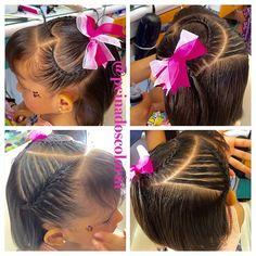 Kids Braided Hairstyles, Little Girl Hairstyles, Cute Hairstyles, Braids For Kids, Braids For Long Hair, Heart Braid, American Hairstyles, Hair Game, Hair Beauty