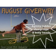 ITS GIVEAWAY TIME  I'm so happy and bless to be able to have my FIRST OFFICIAL GIVEAWAY for the month of August. I will have ONE LUCKY WINNER!! . With football season coming up, it reminds me of the times I spent in high school watching my brother train for football games. Watching the boys run and do drills with agility ladders, watching now them flip tires, and jump rope, and run around on the football field. The same things these boys do, inspired me to do this giveaway. It's the…