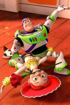 buzz and jessie (toy story the spanish dance part! Toy Story 3, Toy Story Party, Jesse Toy Story, Disney Pixar Movies, Disney Toys, Disney And Dreamworks, Disney Challenge, Buzz And Jessie, Jessie Disney