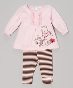 Take a look at this Pink Pooh & Piglet Tunic & Leggings - Infant by Winnie the Pooh on #zulily today!
