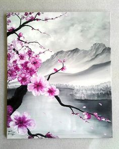 What is Your Painting Style? How do you find your own painting style? What is your painting style? Diy Canvas, Canvas Wall Art, Cherry Blossom Painting, Cherry Blossom Decor, Art Moderne, Landscape Paintings, Oil Paintings, Original Paintings, Land Scape