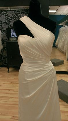 Asymmetrical One Shoulder Bridal Gown | Shop Bridal Cottage