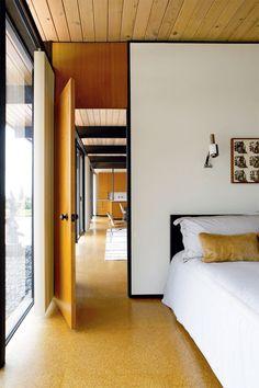 Mid-century modern bedroom interior design
