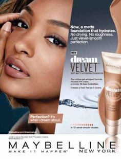 JOURDAN DUNN | MAYBELLINE NEW YORK COSMETICS ADVERTISEMENT 2O15 PHOTOGRAPHED BY WILLIAM WILLARDT