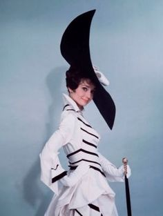 Photo of Audrey Hepburn - Audrey Hepburn - black and white dress - My Fair Lady.jpg