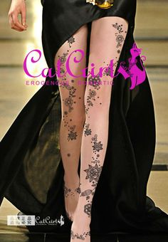 Sexy lady fake tattoos stockings pantyhose tights legging design OEM cool yiwu flocking FLC-0122 Tokyo lace tattoos for girls