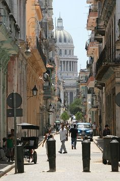 Havana Street  Cuba... My grandpa came from this city. : )