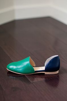 Smoking Loafer - Navy-Green Leather | Emerson Fry
