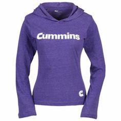Image of Ladies Cummins Diesel Lightweight Hoody Purple | www.dieseltees.com #dieseltees #cummins #ladiestshirt