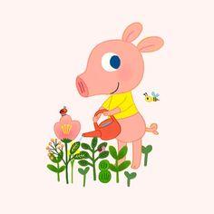 2019 굴리굴리 캘린더 :: 텀블벅 Cute Animal Illustration, Baby Room, Children, Kids, Fairy Tales, Pikachu, Cute Animals, Kawaii, Embroidery
