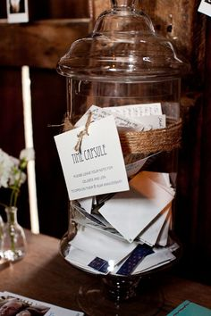 Wedding Time Capsule. Open on your 10 year anniversary. I am loving this idea!!