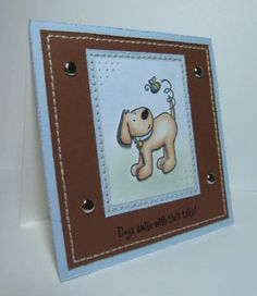 Dogs Smile With Their Tails! - Elzybells Dog Card by Quixotic - Cards and Paper Crafts at Splitcoaststampers