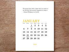Printable Calendar - Creative Inspiration
