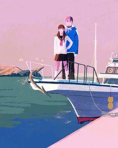 ドリアン助川さんの海の子装画The final version. #illustration #illustrator #tatsurokiuchi #art #drawing #life #lifestyle #happy #japan #people #girl #木内達朗 #イラスト #イラストレーション