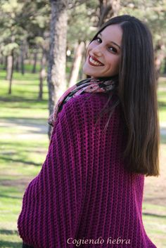 hecho Color Turquesa, Turtle Neck, Knitting, Margarita, Sweaters, Fashion, Strands, Ponchos, Jackets