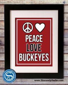 Ohio State University Peace Buckeyes