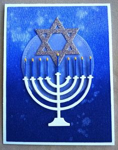 Happy Hanukkah by jacqueline - Cards and Paper Crafts at Splitcoaststampers hanukkah – Homemade Cards, Rubber Stamp Art, & Paper Crafts – Splitcoaststamper… Happy Hanukkah Images, Hanukkah Pictures, Hanukkah Greeting, Feliz Hanukkah, Hanukkah Cards, Hanukkah Decorations, Hannukah, Hanukkah 2019, Merry Christmas