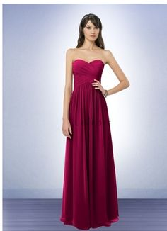 Kelsey is wearing BL Bridesmaid Dress Style 778 in wine