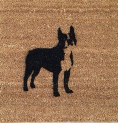 Hey, I found this really awesome Etsy listing at https://www.etsy.com/listing/261676967/boston-terrier-door-mat