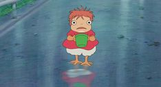 Ponyo my studio ghibli ponyo on the cliff by the sea Ponyo On The Cliff Studio Ghibli Art, Studio Ghibli Movies, Live Action, Animation, Hayao Miyazaki, Aesthetic Anime, Cute Art, Anime Art, Character