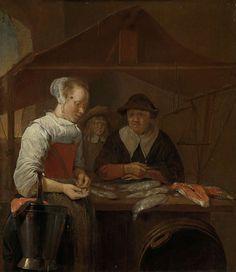 Quirijn or Quiringh Gerritsz van Brekelenkam (1622/29, Zwammerdam – 1669/79, Leiden) - The fishwife, 1650 - 1670. Rijksmuseum