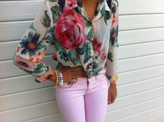 Floral top lavender pants- have the pants, need a floral shirt