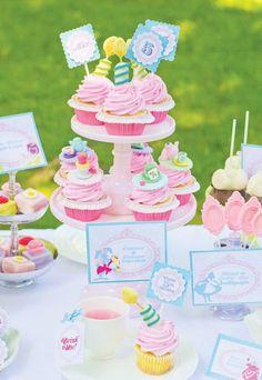 Alice in Wonderland mad-hatter-tea-party-pastels
