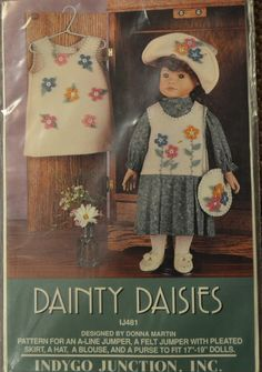 $5 Sewing Pattern Indygo Junction 481 Dainty Daisies Clothes for 18 inch Doll American Girl  Complete Uncut by GoofingOffSewing on Etsy