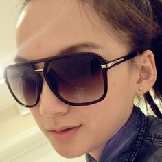 1dd1e40c364 Fashion big black box retro sunglasses Europe and the United States   TYJ130520061  -  8.15