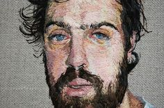 Amazing hand embroidered portraits