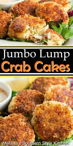 Save money and enjoy these spectacular Jumbo Lump Crab Cakes at home Crab Cake Recipes, Fish Recipes, Seafood Recipes, Cooking Recipes, Salmon Recipes, Chicken Recipes, Appetizers For A Crowd, Seafood Appetizers, Gourmet