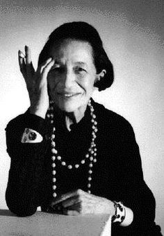 Diana Vreeland - magazine editor at Harpers Bazaar and then Vogue - from 1936 until 1971 - she was called the Empress of Fashion....