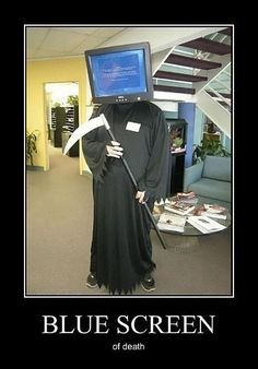 Blue Screen of Death HH needs to be this for work Halloween party!