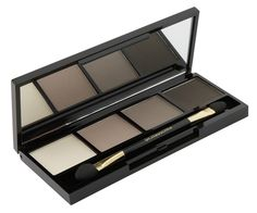 Eye Shadow Palette- Sand,Light Brown, Soft Grey, And Anthracite  Features four shades to enhance eyes Four rich shades of brown and gray enhance the natural beauty of the eyes, allowing for a combination of elegant   looks that take eyes from day to night. Fine powders glide on effortlessly and blend naturally.