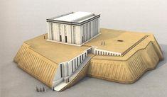 """""""Templo Blanco"""" de Uruk (reconstrucción), perteneciente a la cultura neolítica de Uruk, anterior al dinástico sumerio."""