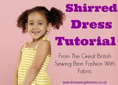 Shirred dress project from The Great Brtitish Sewing Bee
