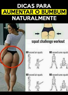Bumbum grande saiba agora como fazer para conseguir (materia no site) - fitness Hip Workout, Gym Workouts, At Home Workouts, Squat Challenge, Fitness Herausforderungen, Air Squats, Workout Bauch, Healthy Exercise, Healthy Eating