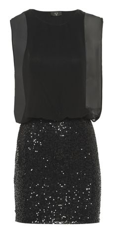 Sequin Skirt Dress love the blouson part of the top and the bateau neckline! Look Fashion, Fashion Beauty, Womens Fashion, Winter Fashion, Pretty Dresses, Beautiful Dresses, Dress Outfits, Cute Outfits, Vestido Dress