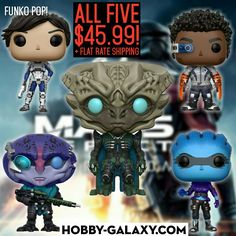 """#funkopops Games: #MassEffect Andromeda - Sara Ryder, Liam Kosta, Peebee, Jaal, Archon (6"""") Vinyl Figures. All five only $45.99 plus flat rate shipping!  Pre-Order at Hobby-Galaxy.com!  #masseffectandromeda #videogamer #videogame #videogames #gamergirls #gamergirl #gamerguy #gamerguys #funkovinyl #funkopop #funkofunatic #funkopopst #funkocollector #funkocollection #funkomania #funkopopvinyl #hobbygalaxy"""