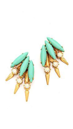 petite mohawk earrings / elizabeth cole