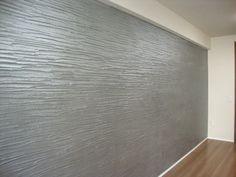 リビングの壁を一部だけ塗る。メタルな感じ☆