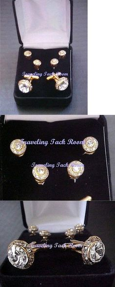 Other English Tack 3155: Finishing Touch Swarovsky Crystals Shirt Studs And Cuff Link Set Silver Tone New -> BUY IT NOW ONLY: $66.95 on eBay!